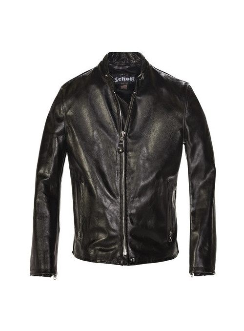 Cowhide Casual Racer Leather Jacket